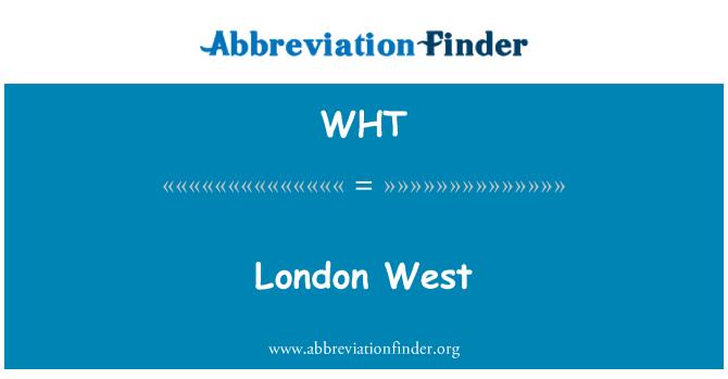 WHT: 伦敦西部