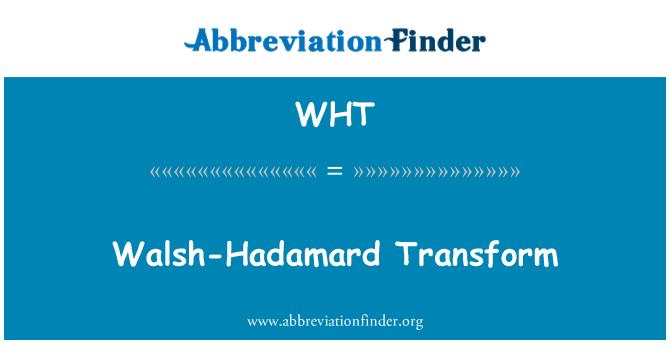WHT: Walsh-Hadamard transforma