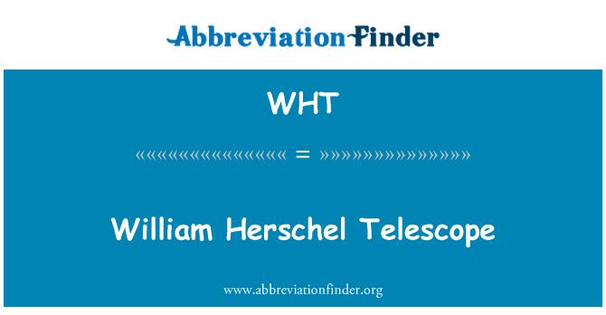 WHT: William Herschel Telescope