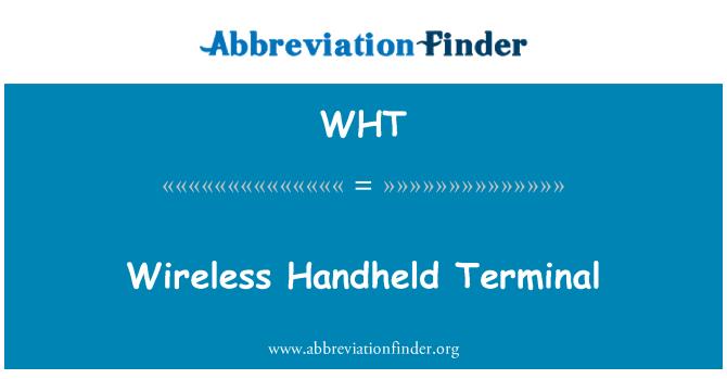 WHT: Terminal de mano inalámbrico