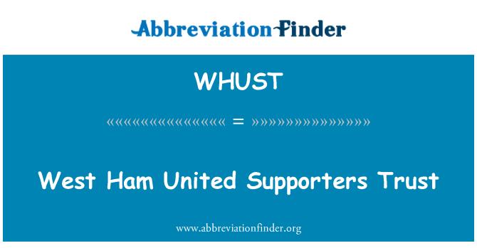 WHUST: West Ham United Supporters Trust