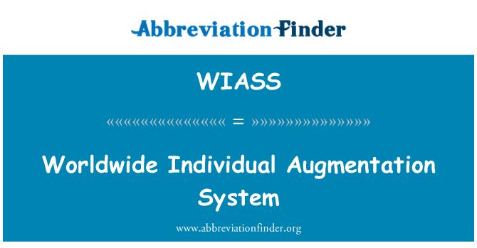 WIASS: Sistema de aumentación individuales en todo el mundo