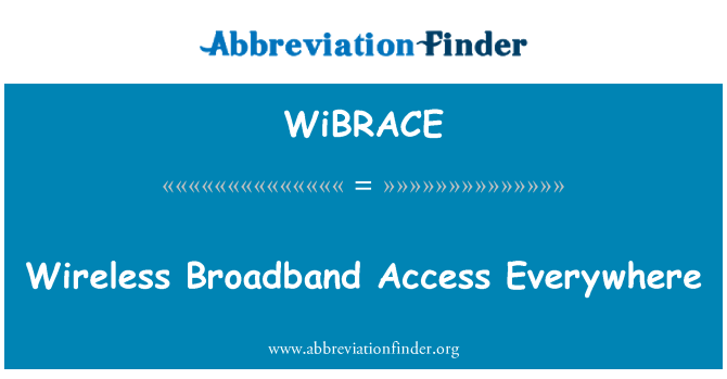 WiBRACE: Wireless Broadband Access Everywhere