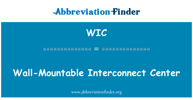 WIC: Wall-Mountable Interconnect Center