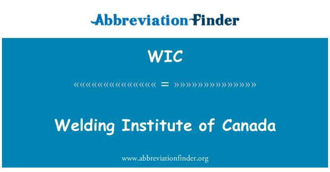 WIC: Welding Institute of Canada