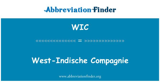 WIC: West-Indische Compagnie