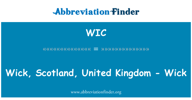 WIC: Wick, Scotland, United Kingdom - Wick