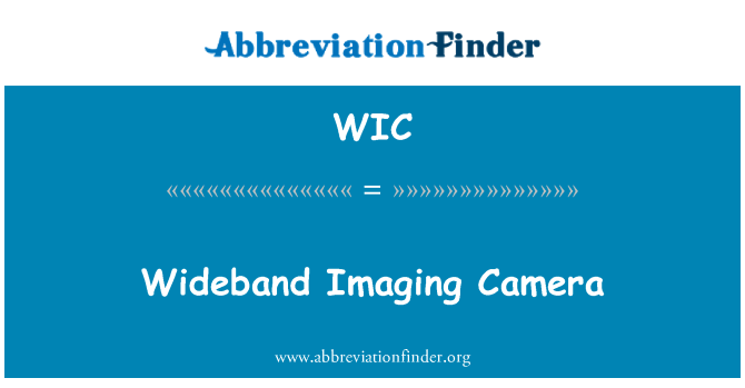 WIC: Wideband Imaging Camera