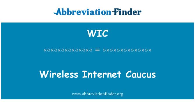 WIC: Wireless Internet Caucus