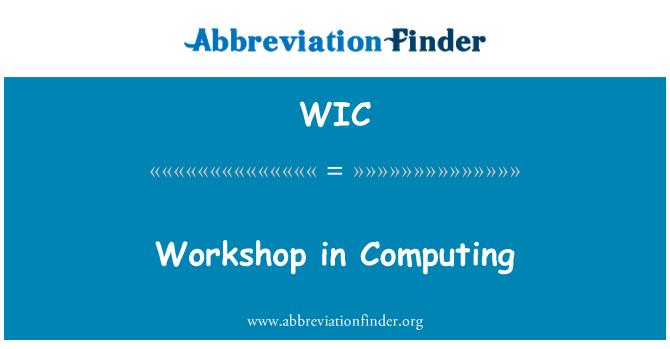 WIC: Workshop in Computing
