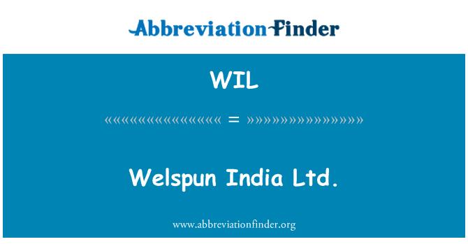 WIL: Welspun India Ltd.