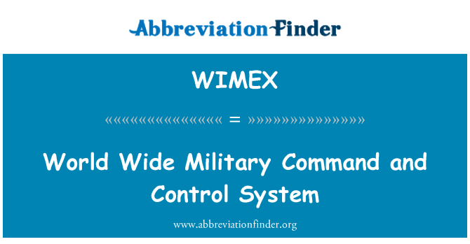 WIMEX: World Wide Military Command and Control System