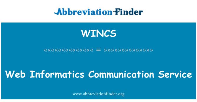 WINCS: Servicio Web de comunicación informática