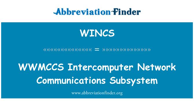 WINCS: Subsistema de comunicaciones de red Intercomputer WWMCCS