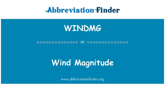 WINDMG: Wind Magnitude