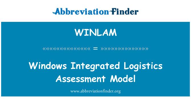 WINLAM: Windows Integrated Logistics Assessment Model