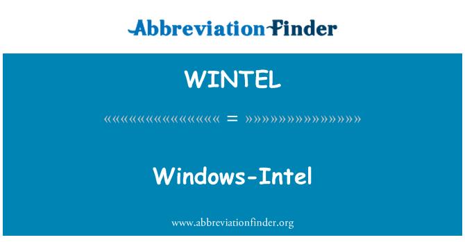 WINTEL: Windows-Intel