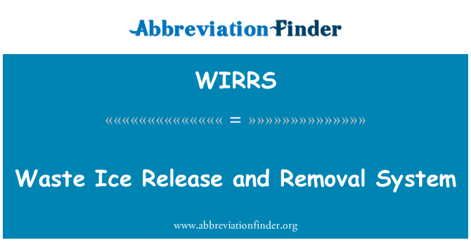 WIRRS: Waste Ice Release and Removal System