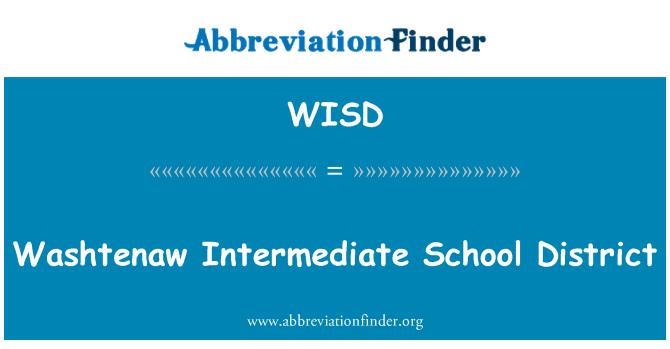 WISD: Distrito Escolar de Washtenaw intermedio
