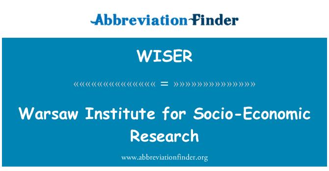 WISER: Warsaw Institute for Socio-Economic Research