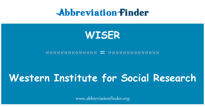 WISER: Western Institute for Social Research