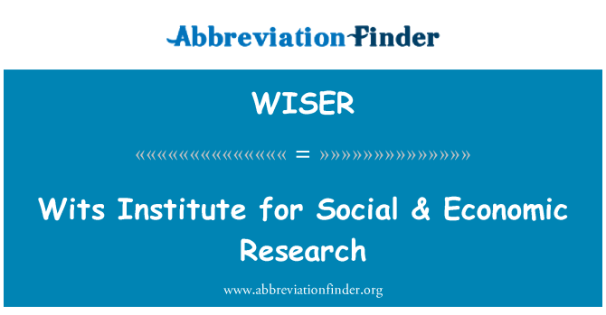 WISER: Wits Institute for Social & Economic Research