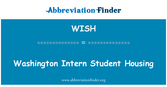 WISH: Washington Intern Student Housing