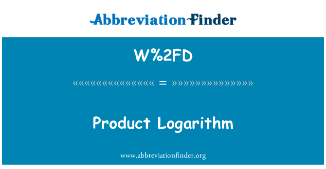 W%2FD: Produk Logarithm