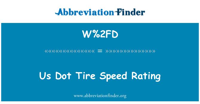 W%2FD: Kita Dot penarafan kelajuan tayar