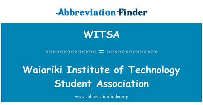 WITSA: Waiariki Institute of Technology Student Association