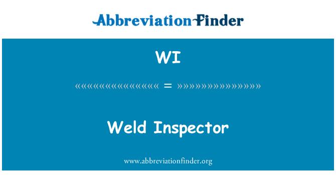WI: Weld  Inspector