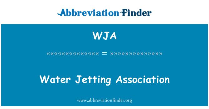 WJA: Water Jetting Association