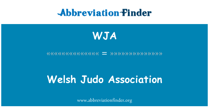 WJA: Welsh Judo Association