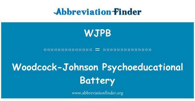 WJPB: Batería psicoeducativa Woodcock-Johnson