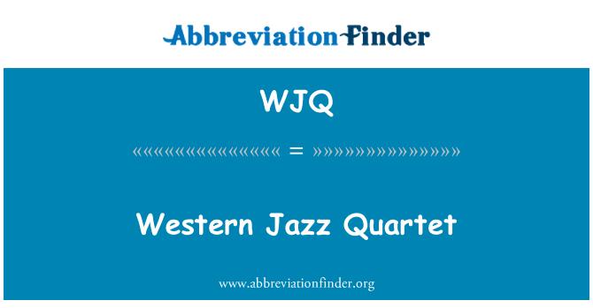 WJQ: Batılı Jazz Quartet