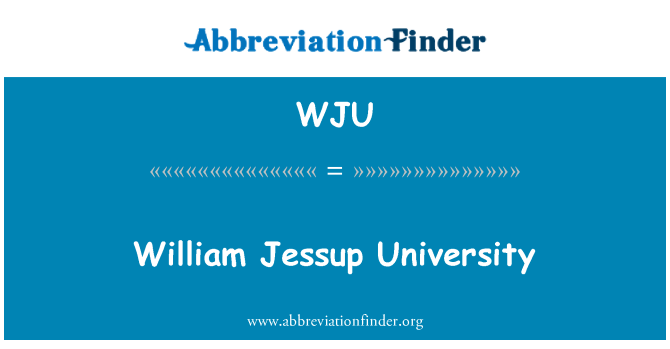 WJU: William Jessup University