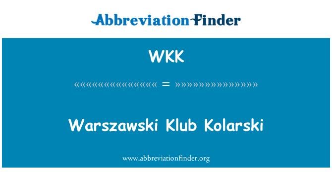 WKK: Warszawski Klub Kolarski