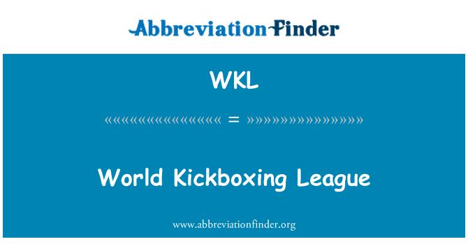 WKL: World Kickboxing League