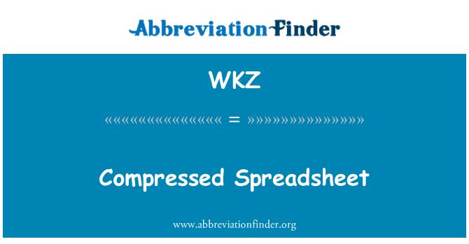 WKZ: Compressed Spreadsheet