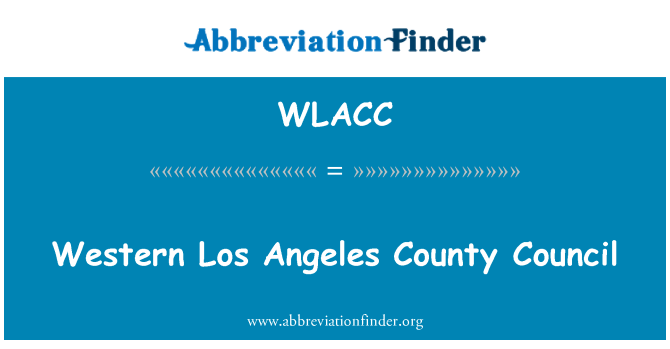 WLACC: Western Los Angeles County Council