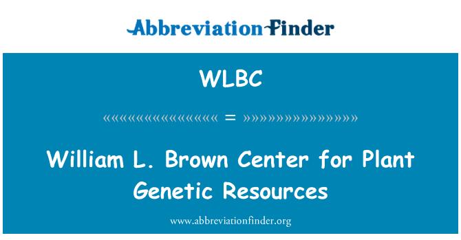 WLBC: William L. Brown centro de recursos fitogenéticos