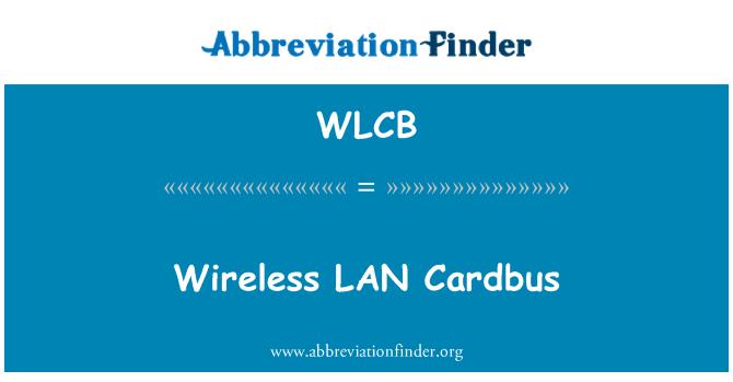 WLCB: Wireless LAN Cardbus