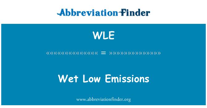 WLE: Wet Low Emissions