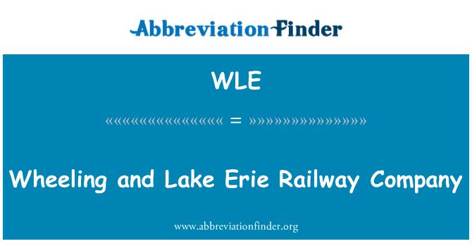 WLE: Wheeling and Lake Erie Railway Company
