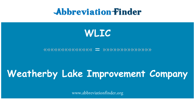 WLIC: Weatherby Lake Improvement Company