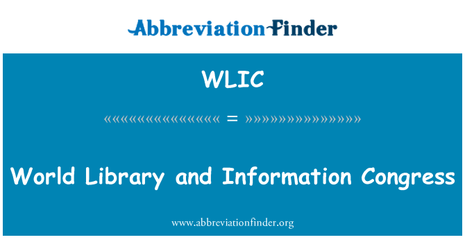 WLIC: World Library and Information Congress