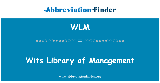 WLM: Wits Library of Management