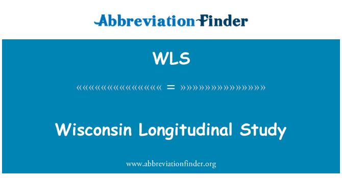 WLS: Wisconsin Longitudinal Study