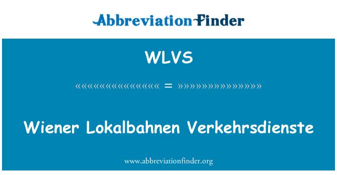 WLVS: Wiener Lokalbahnen Verkehrsdienste
