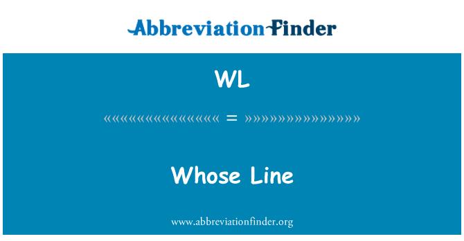 WL: Whose Line